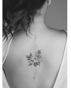Simple rose outline tattoo by Tritoan Ly. - Simple rose outline tattoo by Tritoan Ly. You are in the right place about Simple rose outline tatto - Subtle Tattoos, Small Tattoos, Mini Tattoos, Feminine Back Tattoos, Elegant Tattoos, Aa Tattoos, Feminine Tattoo Sleeves, Dainty Tattoos, Irezumi Tattoos
