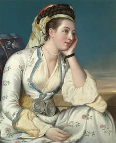 THE ACTRESS MARY GUNNING LATER COUNTESS COVENTRY IN TURKISH COSTUME