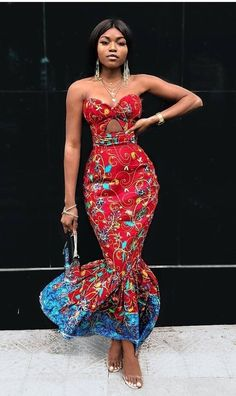 African prom dress /African fashion /party dress /African attire … by Zahra Delong - 2019 Trends African Prom Dresses, Ankara Dress Styles, African Fashion Dresses, Fashion Outfits, Ankara Skirt, Fashion Hacks, 50s Dresses, Elegant Dresses, Fashion Styles