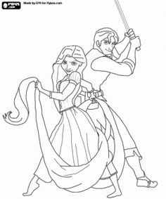 Tangled coloring page for the kids Manly Gay Wedding Ideas