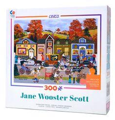 Wholesale Puzzles - Hustle Bustle, $11.99 (http://www.wholesalepuzzles.com/artist-puzzles/jane-wooster-scott/hustle-bustle/)