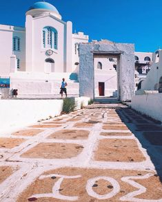 ios island (Ίος) . Beautiful & picturesque church ! Wonderful island with great beaches and intense nightlife .