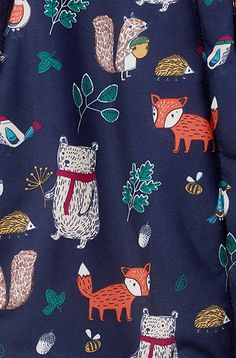 print & pattern blog -  john lewis woodland creatures fashion print