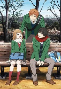 Naruse, Naho and Suwa - Orange Manga Art, Anime Manga, Anime Art, Orange Anime, Tsubaki Chou Lonely Planet, Anime Reccomendations, Orange Wallpaper, A Silent Voice, Animation
