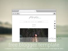 """""""fotographia"""", a one column blogger template, suitable for photographers, fashion blogger and crafters who love sleek and simple design"""