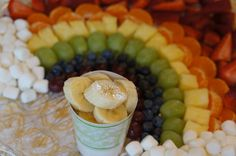 Rainbow Fruit Tray // Where the Piggy Toes Go