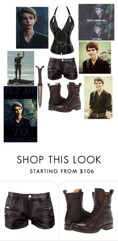"""Imagine #1 (Peter Pan)"" by dreadful103 ❤ liked on Polyvore featuring interior, interiors, interior design, home, home decor, interior decorating, IRO, Once Upon a Time and Frye"