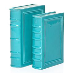 A novel idea: Ceramic bookends in the shape of hardcover books! Perfect for keeping my tomes in line. #zgallerie