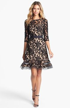 Tadashi Shoji Belted Lace Dress available at #Nordstrom Rehearsal Dinner