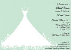 Mint Green Bridal Shower Invitation  Wedding by mycharmingprints