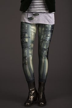 Lovelysally — Enchanted Forest Leggings ((Wish they made this in plus sizes))