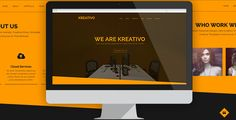 Kreativo - Creative Muse Template . Its a One Page Design with Parallax scrolling. To edit this template with Adobe Muse is very easy. You can change colors, texts or replace the images in a few minutes. Drag & Drop