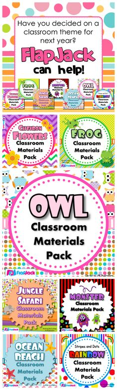 Classroom Material Packs (FlapJack or not) really help bring cohesiveness to your decor and a brightness to your learning environment. $