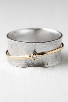 Save this one for later! Diamond Spinner Ring | Harold Jewelry