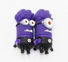 Cle USB Minions mechant violet
