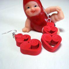 Coll Happy Valentine Loveme orecchini in di BibidiCreazioni, €6,00