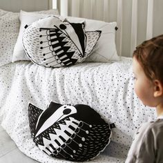 Kids' Room Ideas, pictures and Decor for Babies, Girls and Boys- Petit & Small Animal Graphic, Kid Spaces, Linen Bedding, Your Child, Kids Room, Cushions, Throw Pillows, Vixen, Shopping