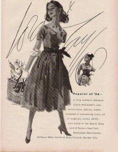 Dorothy Hood's Fashion Illustration, Casual Dress - L&T - 1956