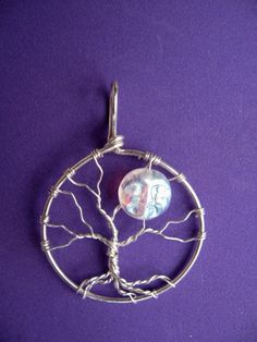 Full Moon Tree of Life Jewelry Pendant  in Argentium Sterling Silver - Winter - Fall- samhain - halloween - solstice