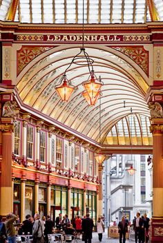 The popular Leadenhall Market in London :-)