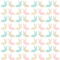 FREE printable bunny pattern paper | MeinLilaPark