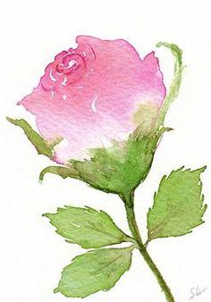 "Daily Paintworks - ""Rosebud"" - Original Fine Art for Sale - © Sonia Aguiar"