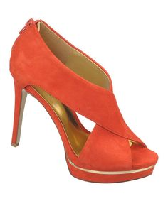 Look what I found on #zulily! Coral Suede Atlanta Pump by Carlos by Carlos Santana #zulilyfinds