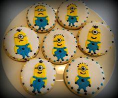 SALE-Minion Sugar Cookie Favors 12ct-Despicable Me Birthday-Minion-Cookie Favors-Party Favors on Etsy, $23.00