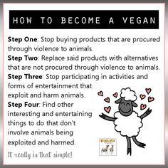 Little by little... every little counts; go #vegan