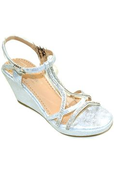 Elegant Footwear Prom/party Wedges Dress Sandals Glittered Marive-06 => Hurry! Check out this great item : Wedges Shoes