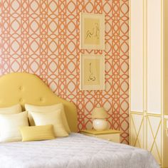 New filigree geometric wall and floor stencil DIY wallpaper, reusable