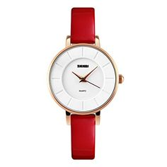 simple watch designs with red leather band #watches #simple #leather