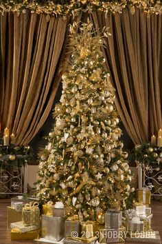 Christmas tree sparkle bright with gold and silver