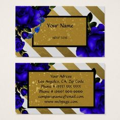 Modern floral Business Card - golden gifts gold unique style cyo