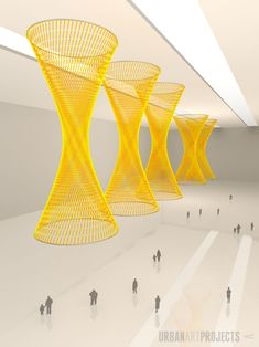 Sun Sculptures by Nike Savvas Paper Installation, Interactive Installation, Interior Concept, Weaving Art, Hanging Pictures, Public Art, Urban Art, Cool Artwork, Diy Art