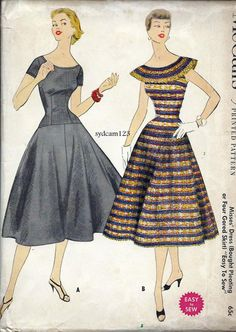Vintage 1955 Dress Pleated Collar and Skirt or by sydcam123, $35.00