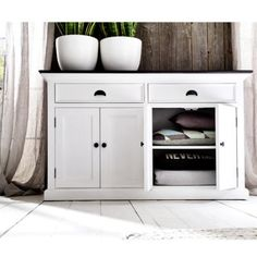 ⚜️ Add charm to your home with NovaSolo Halifax Contrast Pure White Mahogany Wood Sideboard Dining Buffet With Storage And 2 Drawers from Hallway Sideboard, Solid Wood Sideboard, Large Sideboard, Sideboard Buffet, Walnut Sideboard, White Buffet Table, Black Buffet, Dining Room Buffet, Buffet Tables