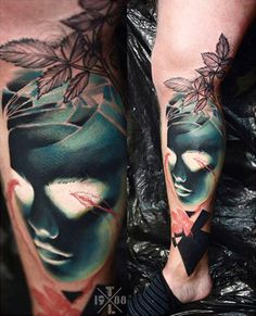 Abstract Face Tattoo by Timur Lysenko   Tattoo No. 12618