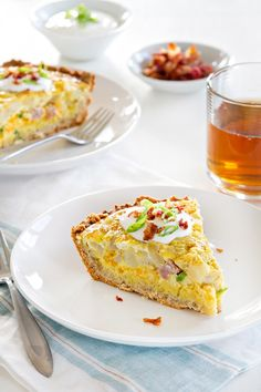 Potato quiche is loaded with delicious breakfast flavors making it perfect for Easter brunch.