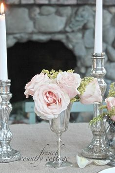 FRENCH COUNTRY COTTAGE: A Romantic Winter Table