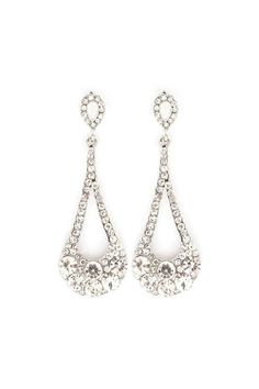 Crystal Lidia Earrings in Silver