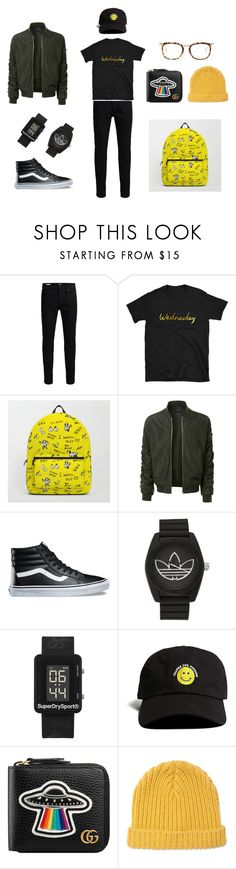 """""""Yellow Wednesday for guys!"""" by mymillo ❤ liked on Polyvore featuring Jack & Jones, LE3NO, Vans, adidas, Superdry, 21 Men, Gucci, Marni, Issey Miyake and men's fashion"""