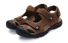 Shop Asifn mens mens sandal Beach Sandals Yellow Size: ✓ free delivery ✓ free returns on eligible orders Hiking Sandals, Sport Sandals, Men Sandals, Trekking, Beach Shoes, Sport Casual, Courses, Leather Sandals, Summer Beach