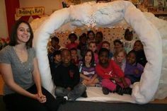 South Dover Elementary students construct igloo & learn about Iditarod