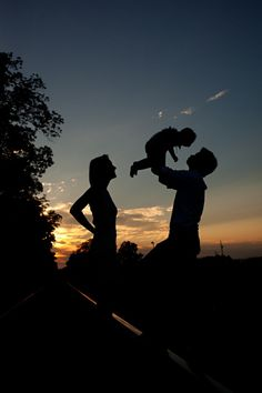 Silhouette Family Photo