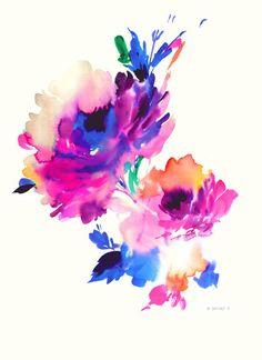 original watercolor #105 l Helen Dealtry #floral*****