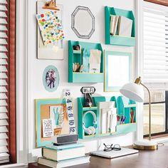 Dorm Room Ideas: task lighting and organization for your desk