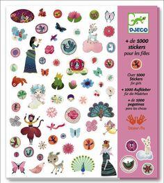 1000 #stickers for girls 7j by #Djeco from www.kidsdinge.com    www.facebook.com/pages/kidsdingecom-Origineel-speelgoed-hebbedingen-voor-hippe-kids/160122710686387?sk=wall         http://instagram.com/kidsdinge #Kidsdinge #Toys #Speelgoed