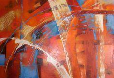 Cuadro Abstracto -acrílico sobre lienzo espatulado de 100x160