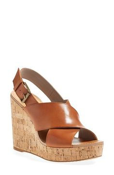 Hinge Wedge Sandal (Women) at Nordstrom.com. A lofty cork platform wedge plays up the retro-chic appeal of a look-defining sandal featuring smooth leather straps and a weathered buckle detail.